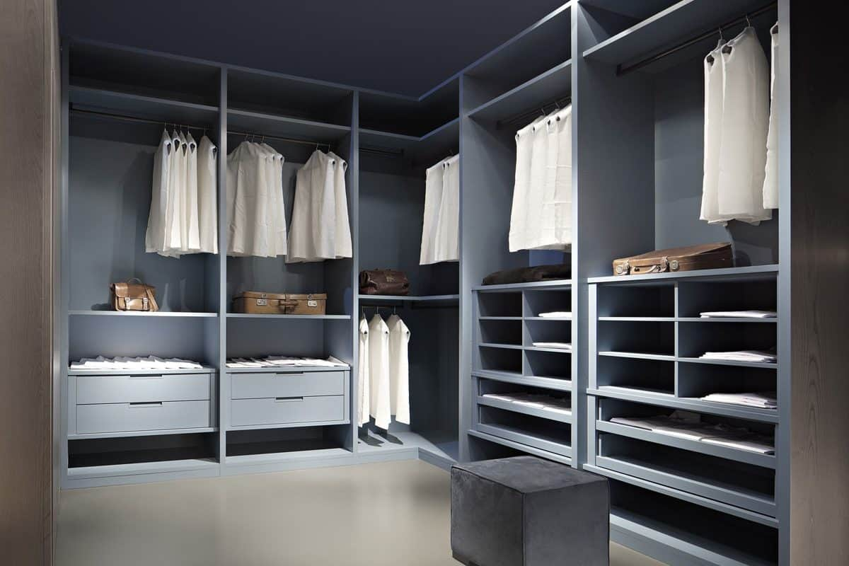 blue fitted wardrobe