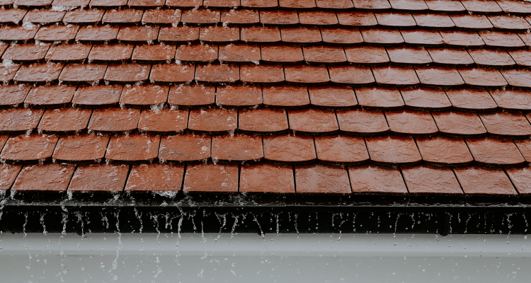 cleaning roof with water