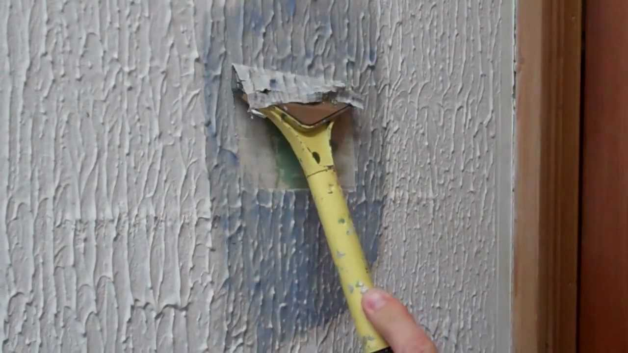 artex removal with solution